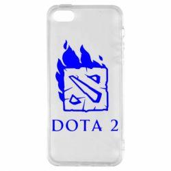 Чохол для iphone 5/5S/SE Dota 2 Fire