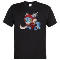 Мужская футболка  с V-образным вырезом Dota 2 Slark Art - FatLine