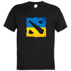 Мужская футболка  с V-образным вырезом Dota 2 Ukraine Team - FatLine