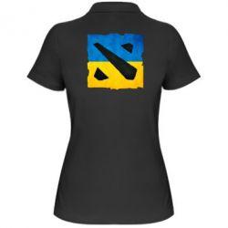 Женская футболка поло Dota 2 Ukraine Team - FatLine