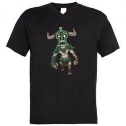 Мужская футболка  с V-образным вырезом Dota 2 Undying Art - FatLine