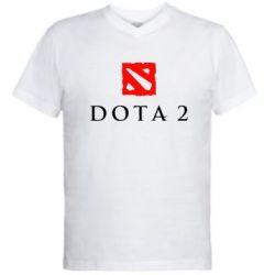 Мужская футболка  с V-образным вырезом Dota 2 - FatLine