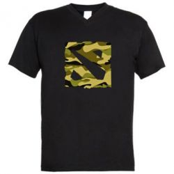 Мужская футболка  с V-образным вырезом Dota камуфляж - FatLine
