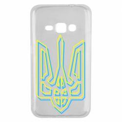 Чехол для Samsung J1 2016 Double yellow blue trident