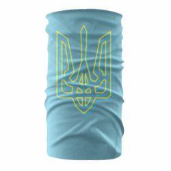 Бандана-труба Double yellow blue trident
