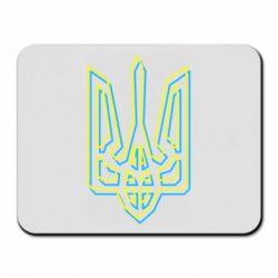 Килимок для миші Double yellow blue trident