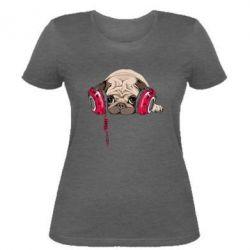 Женская футболка Doug the pug
