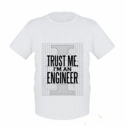 Дитяча футболка Довірся мені я інженер