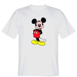Мужская футболка Довольный Микки Маус - FatLine
