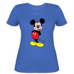 Женская футболка Довольный Микки Маус