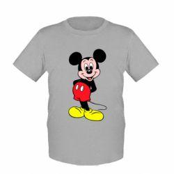 Детская футболка Довольный Микки Маус - FatLine