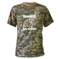 Камуфляжна футболка Downhill,only downhill