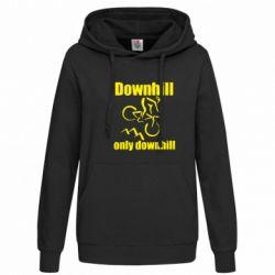 Женская толстовка Downhill,only downhill - FatLine