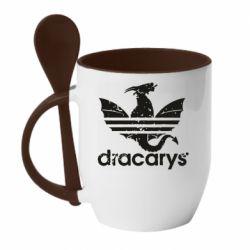 Кружка з керамічною ложкою Dracarys