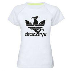 Жіноча спортивна футболка Dracarys