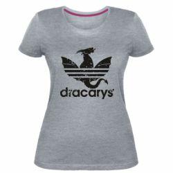 Жіноча стрейчева футболка Dracarys