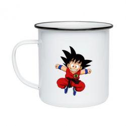 Кружка емальована Dragon ball Son Goku