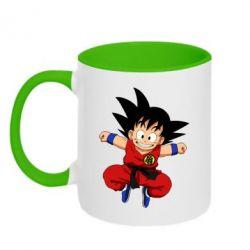 Кружка двоколірна 320ml Dragon ball Son Goku