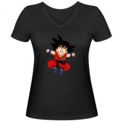 Жіноча футболка з V-подібним вирізом Dragon ball Son Goku