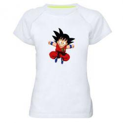 Жіноча спортивна футболка Dragon ball Son Goku