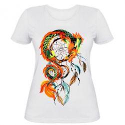 Женская футболка Dragon catcher dreams
