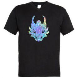 Чоловіча футболка з V-подібним вирізом Dragon face