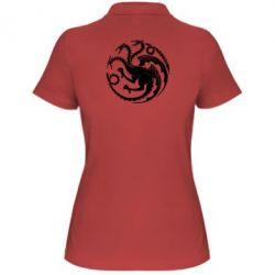 Женская футболка поло Dragons 3