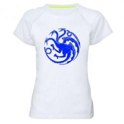 Женская спортивная футболка Dragons 3