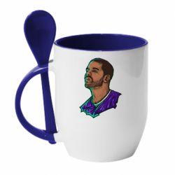 Кружка с керамической ложкой Drake