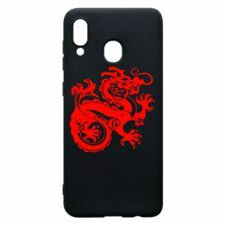 Чехол для Samsung A20 Дракон