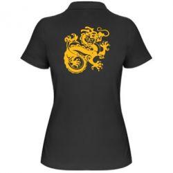 Женская футболка поло Дракон