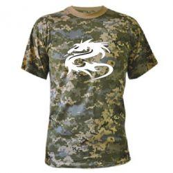 Камуфляжная футболка Дракон - FatLine