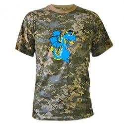Камуфляжная футболка Дракоша - FatLine