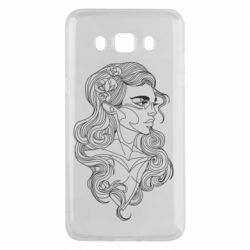 Чохол для Samsung J5 2016 Drawing a girl in a continuous line