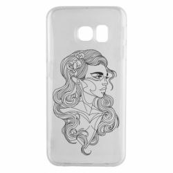 Чохол для Samsung S6 EDGE Drawing a girl in a continuous line