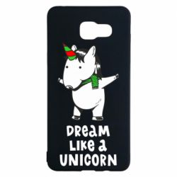 Чехол для Samsung A5 2016 Dream like a unicorn