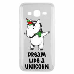 Чехол для Samsung J5 2015 Dream like a unicorn