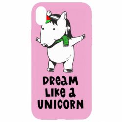 Чехол для iPhone XR Dream like a unicorn