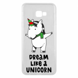 Чехол для Samsung J4 Plus 2018 Dream like a unicorn