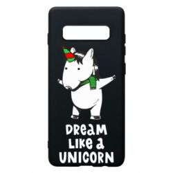 Чехол для Samsung S10+ Dream like a unicorn