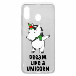 Чехол для Samsung A20 Dream like a unicorn