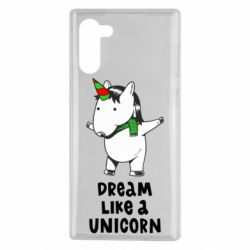 Чехол для Samsung Note 10 Dream like a unicorn