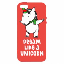 Чехол для iPhone5/5S/SE Dream like a unicorn