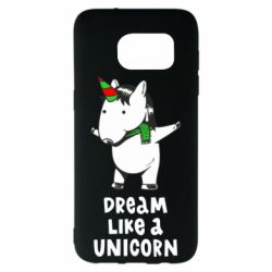 Чехол для Samsung S7 EDGE Dream like a unicorn