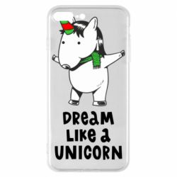 Чехол для iPhone 8 Plus Dream like a unicorn