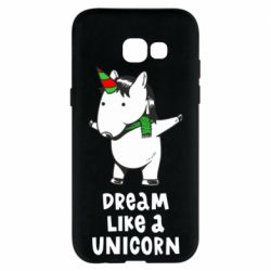 Чехол для Samsung A5 2017 Dream like a unicorn