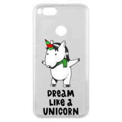 Чехол для Xiaomi Mi A1 Dream like a unicorn