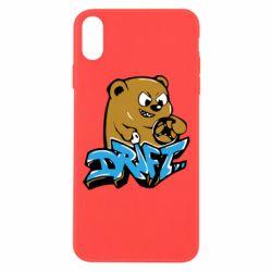 Чехол для iPhone Xs Max Drift Bear