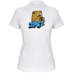 Женская футболка поло Drift Bear - FatLine