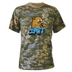 Камуфляжная футболка Drift Bear - FatLine